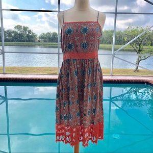 She & Sky summer beach dress crochet detail Large